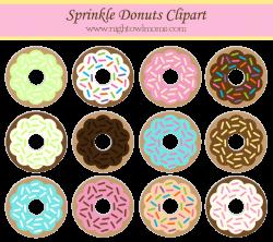 Free Sprinkle Donut Clipart | Pinterest | Sprinkle donut, Night owl ...