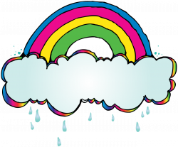 Rainbow clipart doodle - Pencil and in color rainbow clipart doodle