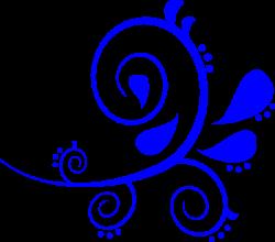 Blue Fancy Swirl Clip Art at Clker.com - vector clip art online ...