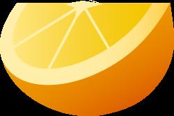 Juicy Orange Fruit Wedge - Free Clip Art