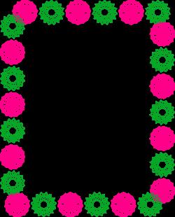 Green and Pink Clipart Circle Border Design 2016 sadiakomal | Border ...