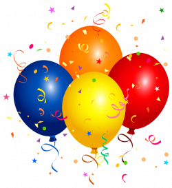 Confetti and Balloons PNG Clipart Image | Клипарты | Pinterest ...