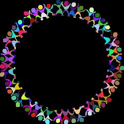 Clipart - Dancing People Circle. Prismatic