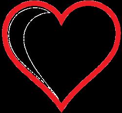 Clip Art: heart icon red hollow valentine SVG - ClipArt Best ...