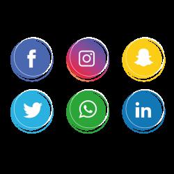 Social Media Icons Set. Facebook, Instagram, Whatsapp,, Social ...