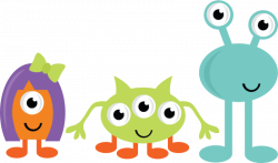 Cute Monsters SVG cut files for scrapbooking monster svgs cute ...