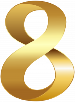 Golden Number Eight Transparent PNG Clip Art Image | Gallery ...