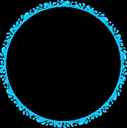 Clipart - Water Splash Circle Frame