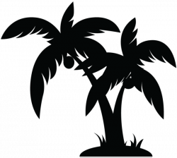 Palm Tree Black image - vector | Simple LInes | Pinterest | Black ...