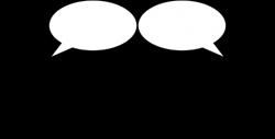 Public Domain Clip Art Image | People talking bubbles | ID ...