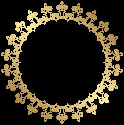 Round Gold Border Frame Transparent Clip Art Image | рамки, фон ...
