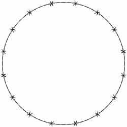 Clipart - Barbed Wire Circle Frame Border