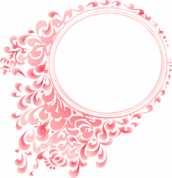Pretty Borders And Frames | Pink Gradient Round Border clip art ...