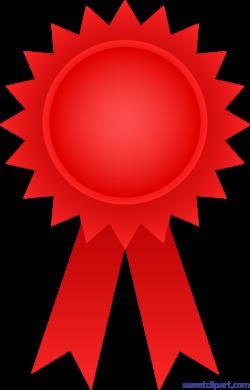Award Ribbon Red Clip Art - Sweet Clip Art