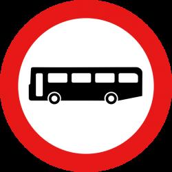 Bus Road Sign Clip Art at Clker.com - vector clip art online ...