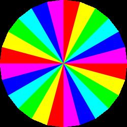 Clipart - 24gon 6 color