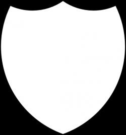 Shield Template   Shield Outline clip art - vector clip art online ...