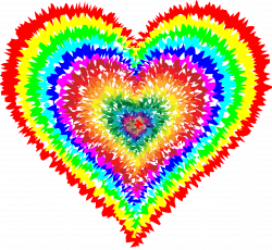 Clipart - Tie Dye Heart | Look at all the pretty colors. | Pinterest ...