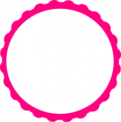 Pink Scallop Circle Frame Clip Art At Clkercom Vector Clipart - Free ...