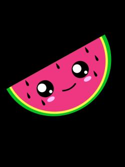 Kawaii Watermelon. Vector Illustration. ©Allezleon.com | Too Cute ...