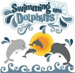 Dolphin clipart swim with dolphin - Pencil and in color dolphin ...