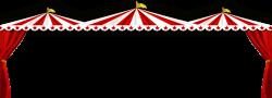 Circus clipart border - Pencil and in color circus clipart border