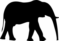 Clipart - elephant silhouet