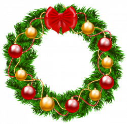 Christmas Wreath PNG Clipart Image | CHRISTMAS | Pinterest | Clipart ...