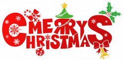 Red Merry Christmas PNG Clipart Image | Gallery Yopriceville - High ...