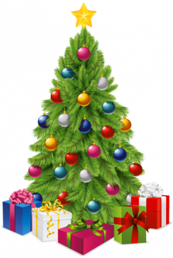 Transparent Christmas Tree with Gift Boxes PNG Picture | Christmas ...