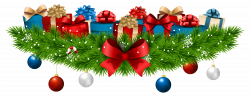 Christmas Decoration with Gifts PNG Clip Art Image | Gallery ...