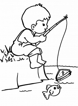 fisherman boy coloring page - Google Search | incentive chart ideas ...