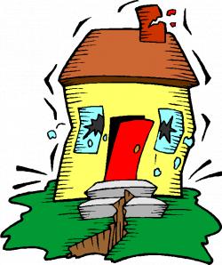 Destruction clipart earthquake cartoon - Pencil and in color ...