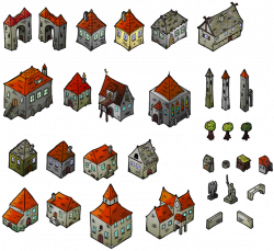 Medieval Houses Isometric Map Elements by DarthAsparagus on ...