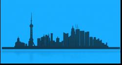 Public Domain Clip Art Image   Shangai city skyline   ID ...