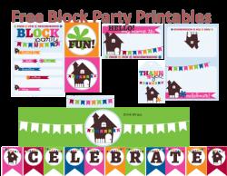Neighborhood Block Party Printables (Free) | Pinterest | Party ...