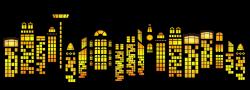 Public Domain Clip Art Image   Illustration of skyscrapers   ID ...