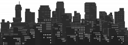 Cityscape Silhouette Clip Art Image | Gallery Yopriceville - High ...