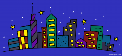 Night Cityscape Clipart Clipart - Sweet Clip Art