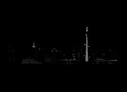 Dubai Silhouette Skyline Clip art - city building 1090*797 ...