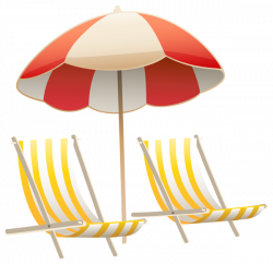 Beach Umbrella and Chairs PNG Clipart Image | Clip Art | Pinterest ...