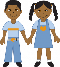 38615-african-american-boy-and-girl.jpg (540×600)   T-Shirt Prints ...