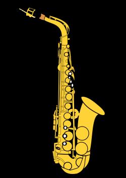 Clipart - Alto Saxophone