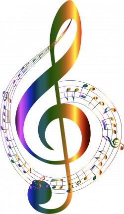 Chromatic Musical Notes Typography No Background by GDJ | Silhouette ...