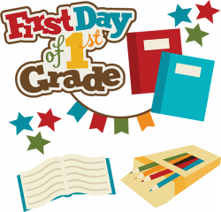 First Day Of 1st Grade SVG school svg files for scrapbooking free ...