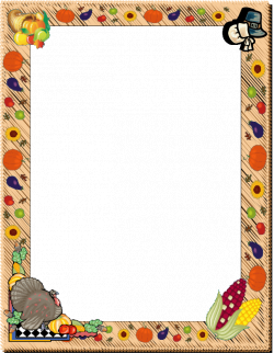 Thanksgiving Clip Art Borders | Thanksgiving Day Border - Free Page ...