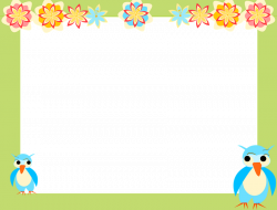 borders and frames clip art | owl scrapbooking paper for kids AND ...