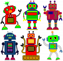 Robot clipart for your project or classroom. Free PNG files that ...