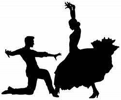 Flamenco Dancers Silhouette PNG Transparent Clip Art Image | Art ...