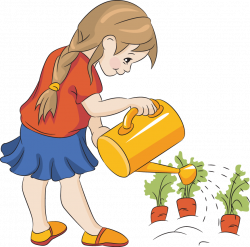 28+ Collection of Kids Gardening Clipart | High quality, free ...